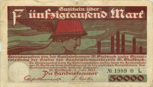 50000 марок (нотгельд) 1923 года (Германия)
