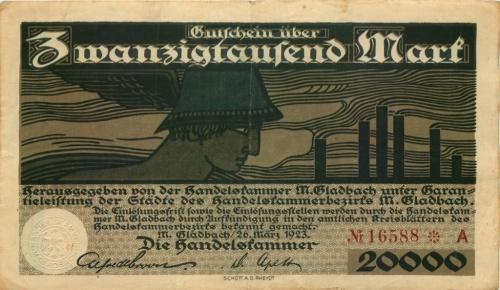 20000 марок (нотгельд) 1923 года (Германия)