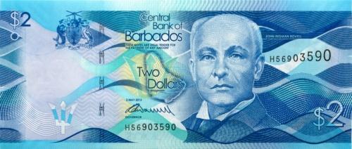 2 доллара 2013 года (Барбадос)