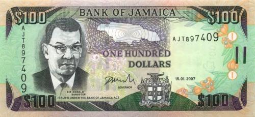 100 долларов 2007 года (Ямайка)