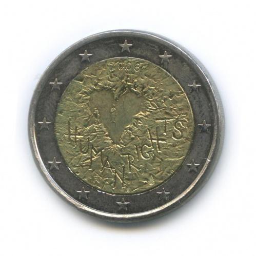 2 евро — 60 лет Всеобщей Декларации Прав Человека 2008 года (Финляндия)