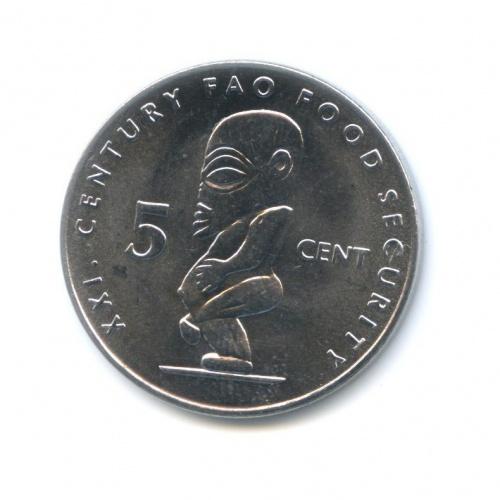 5 центов - Ф.А.О. (Продовольственная безопасность), Острова Кука 2000 года
