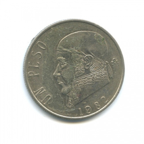 1 песо 1982 года (Мексика)