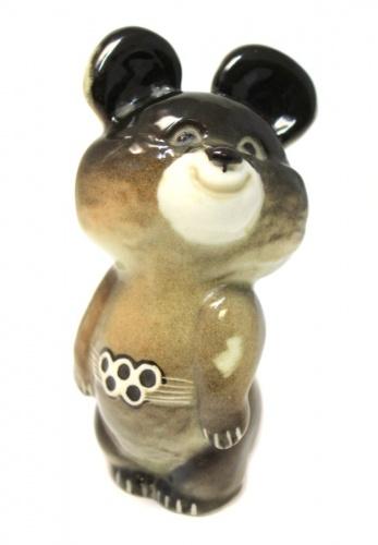 Фигурка «Мишка олимпийский» (фарфор, 12 см) (СССР)