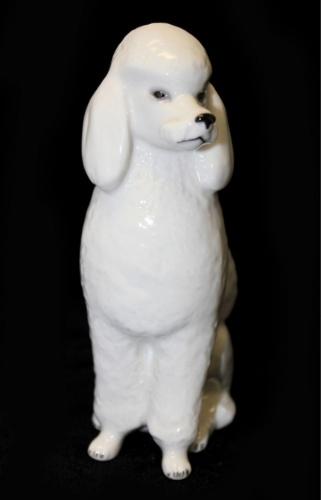 Фигурка-статуэтка ЛФЗ «Пудель» (фарфор, 15 см) (СССР)