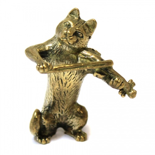 Фигурка «Кот-скрипач» (бронза, 4 см)