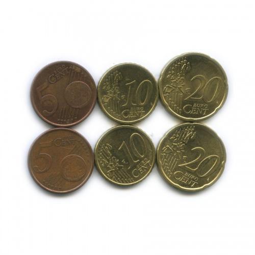 Набор монет 1999-2002 (Финляндия)