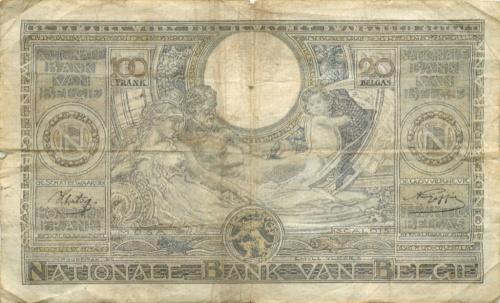 100 франков 1941 года (Бельгия)
