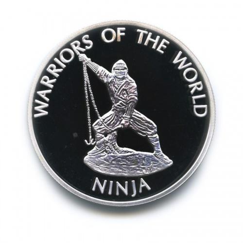 10 франков - Воины мира - Ниндзя, Конго (серебрение) 2010 года