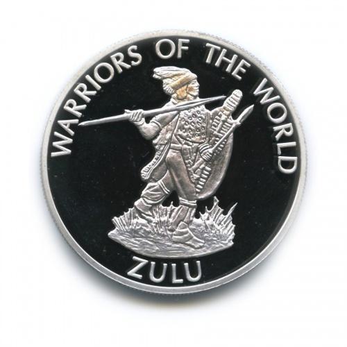 10 франков - Воины мира - Зулу, Конго (серебрение) 2010 года