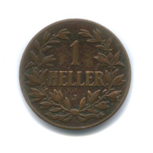 1 геллер, Немецкая Восточная Африка 1905 года J