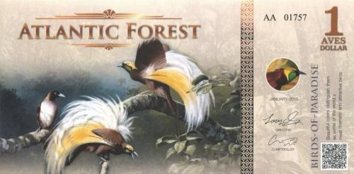 1 доллар (Атлантический лес) 2015 года