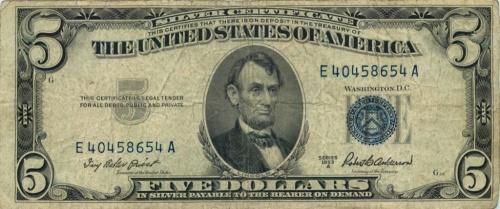 5 долларов 1953 года А (США)