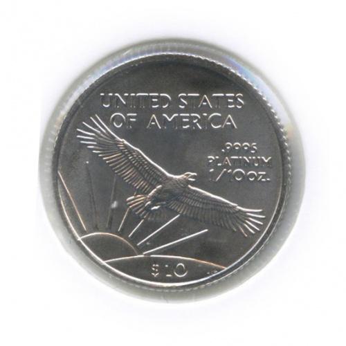 10 долларов - Платиновый орел (вхолдере) 2008 года (США)