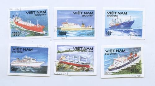 Набор почтовых марок «Пароходы» (Вьетнам)