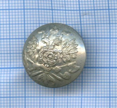 Пуговица «Орел натопорах» (Российская Империя)