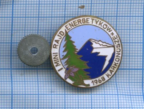 Знак «I mini rajd energetykow - 1968 Karkonosze» 1968 года (Польша)
