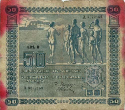50 марок 1939 года (Финляндия)
