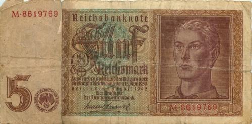 5 рейхсмарок 1942 года (Германия (Третий рейх))
