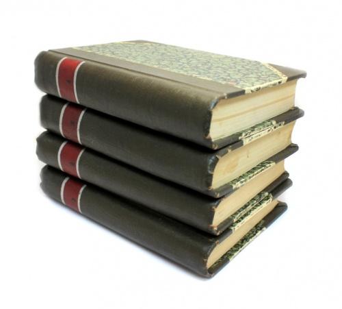 Набор книг «Полное собрание сочинений Генрика Ибсена» (1 том - 632 стр., 2 том - 643 стр., 3-й том - 710 стр., 4-й том - 826 стр.) 1909 года (Российская Империя)