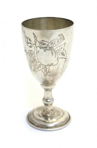Рюмка «ВСХВ» (серебро 875 пробы, до1958 года, 8 см) (СССР)