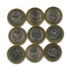 Набор юбилейных монет 10 рублей 2013, 2014 (Россия)