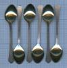 Набор кофейных ложек (золочение, новые, 12 см)