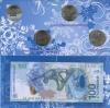 Набор монет 25 рублей - Олимпийские игры, Сочи-2014, банкнота 100 рублей 2014 (вальбоме) 2013, 2014 (Россия)