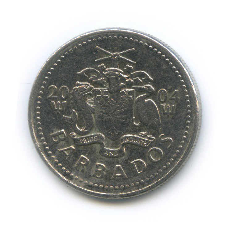 25 центов 2004 года (Барбадос)