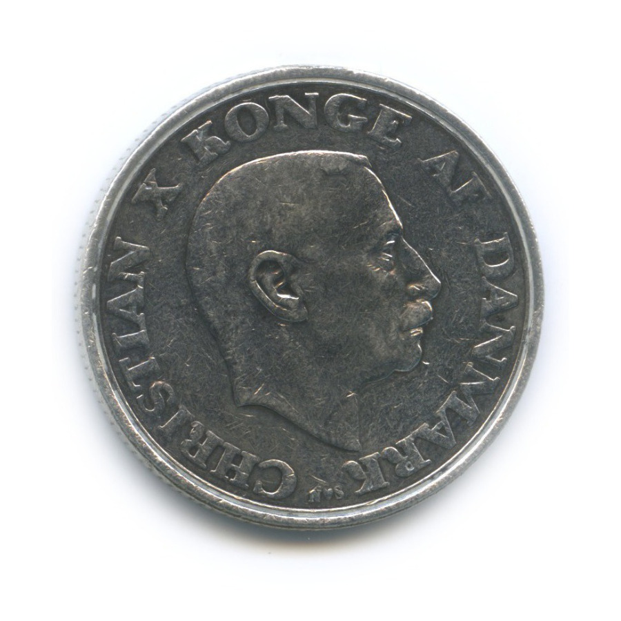 2 кроны — 75 лет содня рождения Короля Кристиана X 1945 года (Дания)
