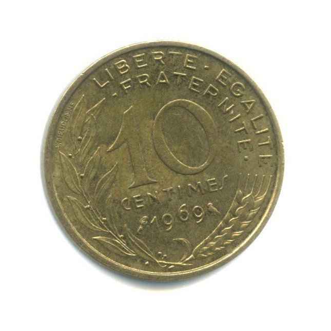 10 сантимов 1969 года (Франция)