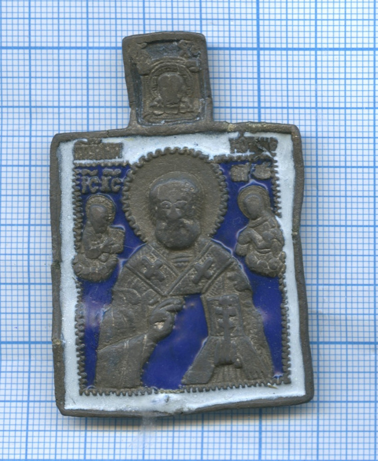 Иконка «Николай Чудотворец» (эмаль)
