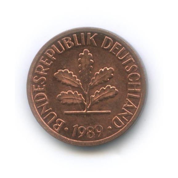 1 пфенниг 1989 года F (Германия)