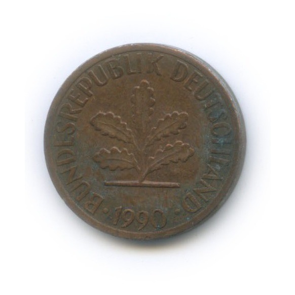 1 пфенниг 1990 года F (Германия)