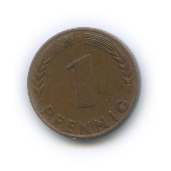 1 пфенниг 1950 года D (Германия)