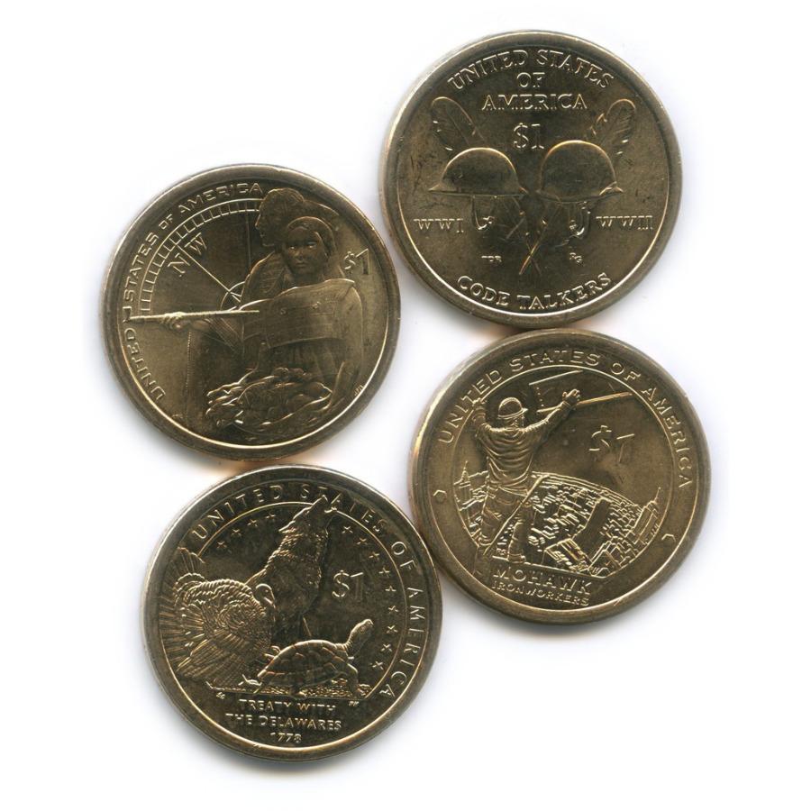 Набор юбилейных монет 1 доллар 2013-2016 (США)