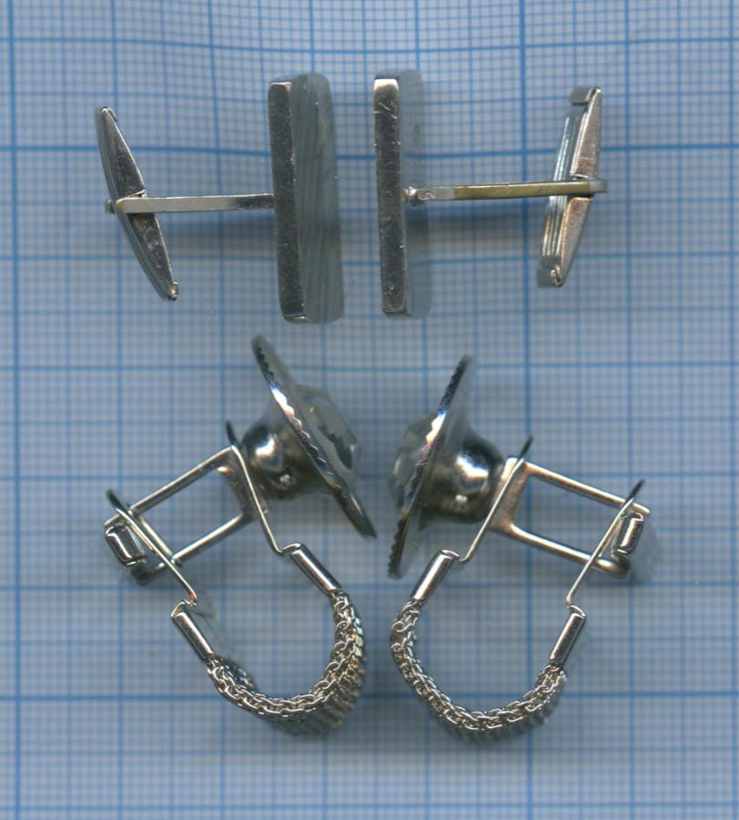 Набор запонок (металл, 2 пары)