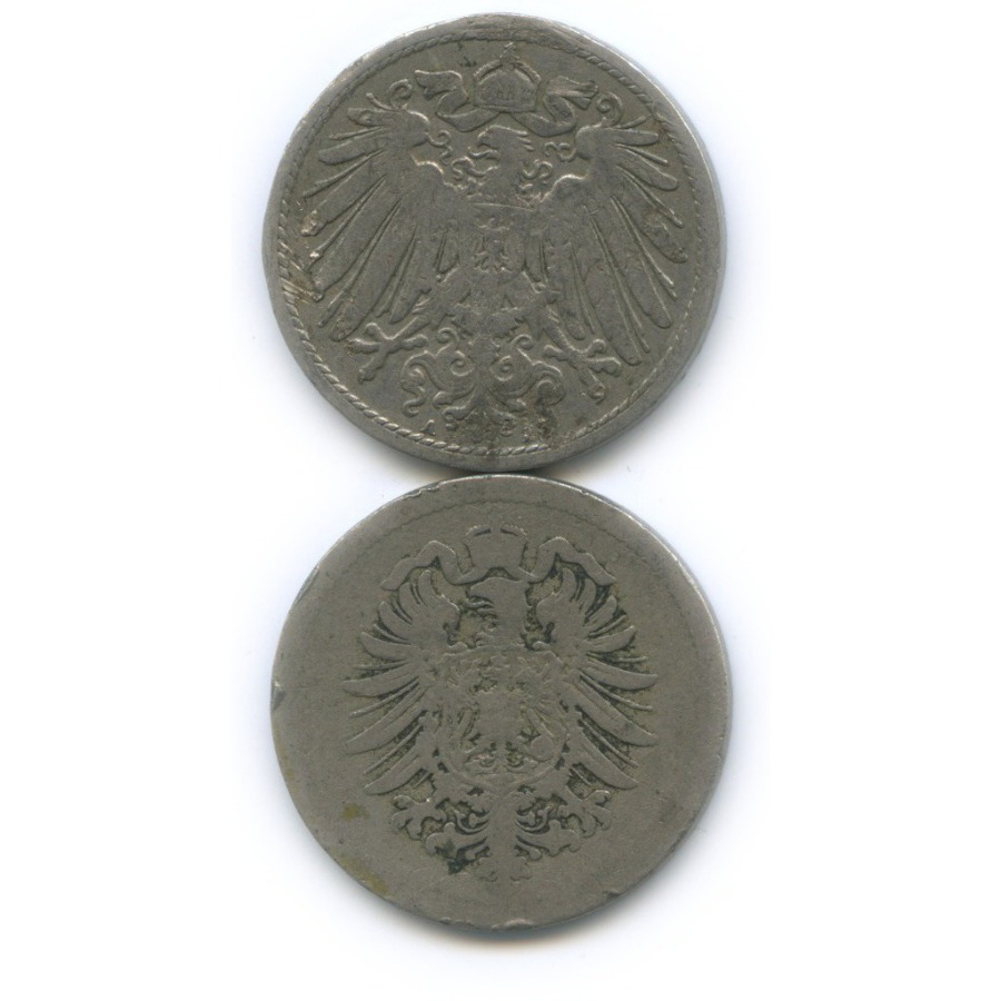 Набор монет 10 пфеннигов 1875, 1900 (Германия)