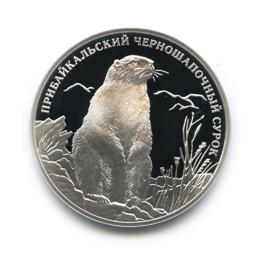 2 рубля — Красная книга - Прибайкальский черношапочный сурок 2008 года (Россия)