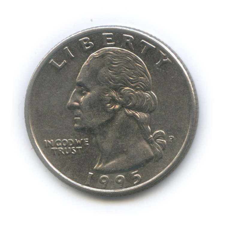 25 центов (квотер) 1995 года P (США)