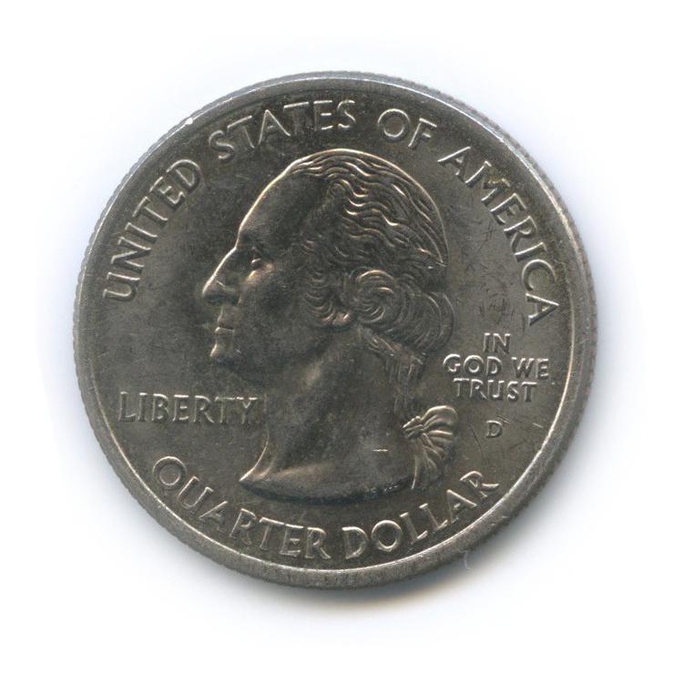 25 центов (квотер) — Квотер штата Теннесси 2002 года D (США)