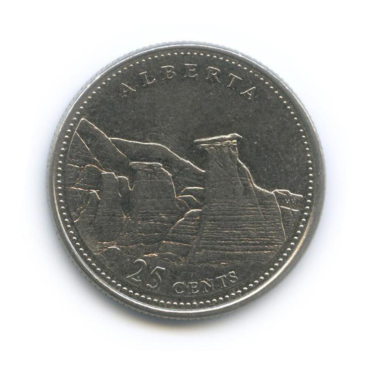 25 центов (квотер) — 125 лет Конфедерации Канада - Альберта 1992 года (Канада)