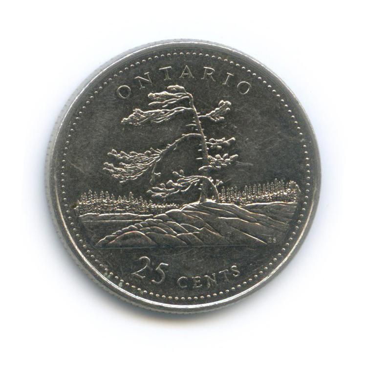 25 центов (квотер) — 125 лет Конфедерации Канада - Онтарио 1992 года (Канада)
