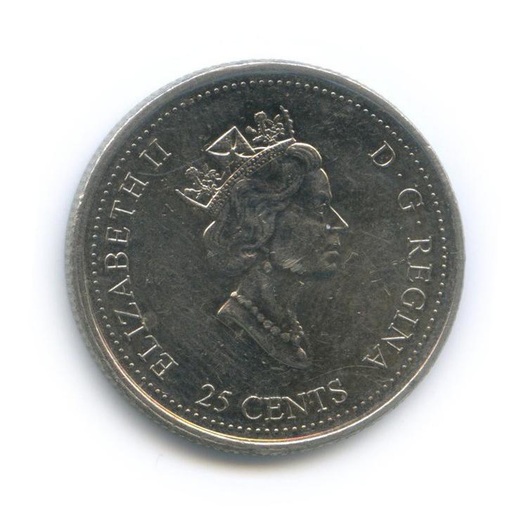 25 центов (квотер) — Миллениум - Семья 2000 года (Канада)