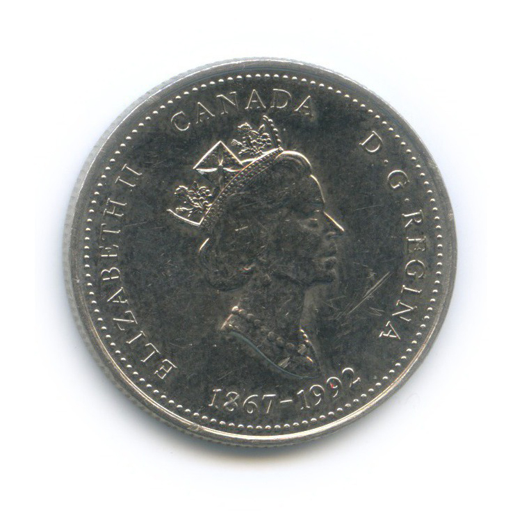 25 центов (квотер) — 125 лет Конфедерации Канада - Квебек 1992 года (Канада)