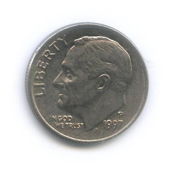10 центов (дайм) 1997 года P (США)