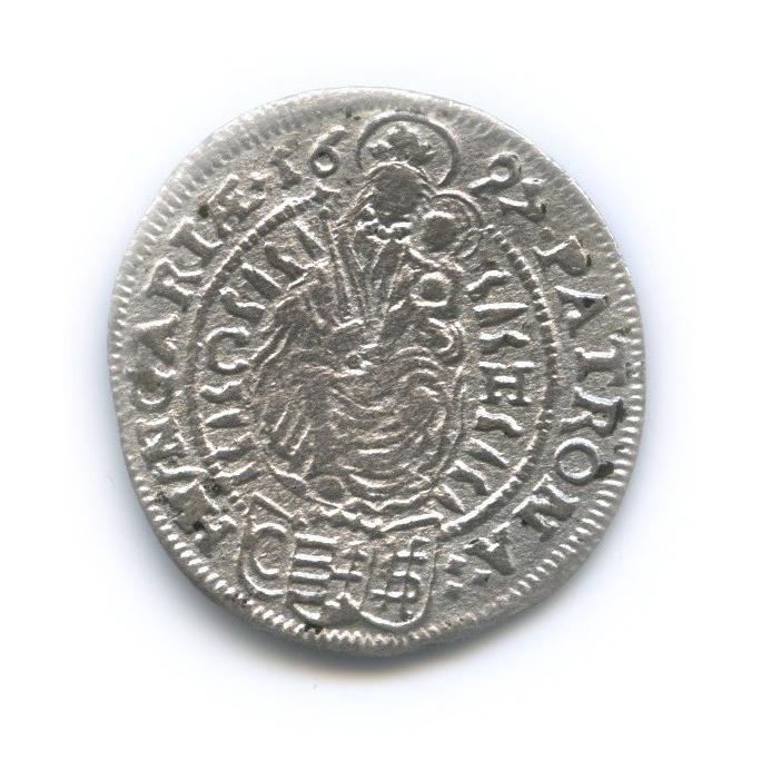 3 крейцера - Леопольд 1697 года (Венгрия)