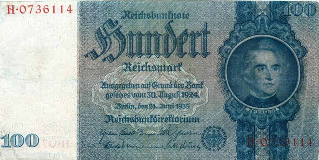 100 рейхсмарок 1935 года (Германия)