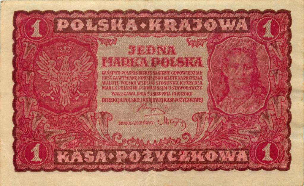 1 марка (оккупация Польши) 1919 года (Германия)