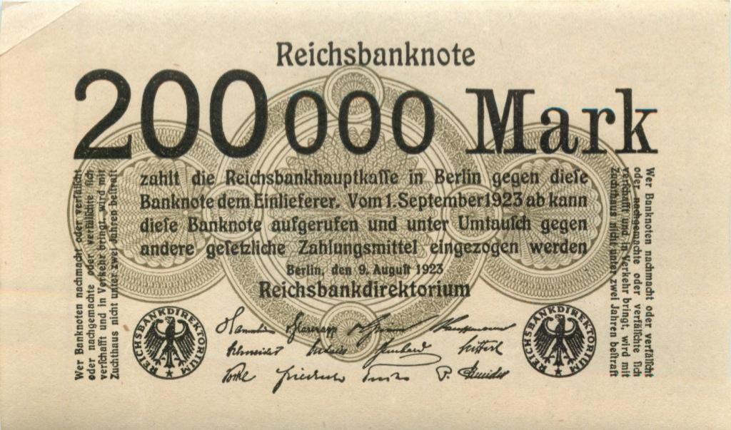 200 тысяч марок 1923 года (Германия)